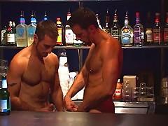 Bartender fucks a hairy patron
