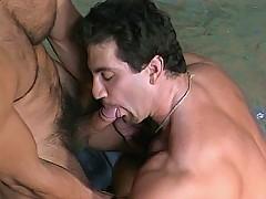 Max Grand meets up with hot gay bear Tom Katt and fucks him good by the hood of his car