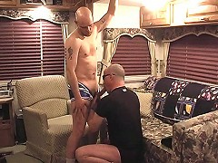 Horny jocks suck and fuck each other