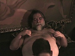 Fat old guys make each other cum